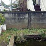 万年塀改修工事 工事前