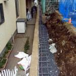万年塀改修工事 工事中