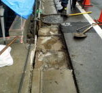 L型側溝やり替え   施工中